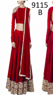 Stylish Red Lehenga